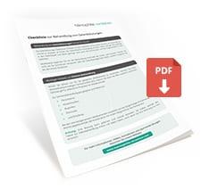 Checkliste zur Behandlung von Gelenkblutungen