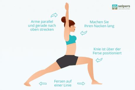 Yogastellung: Der Krieger