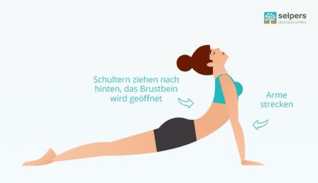 Yogastellung: Die Kobra