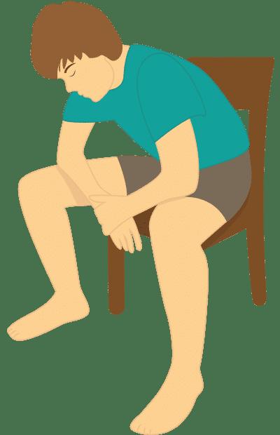 Kutschersitz: Atemübung bei beginnender Luftnot
