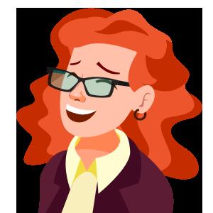Lachende Frau Illustration