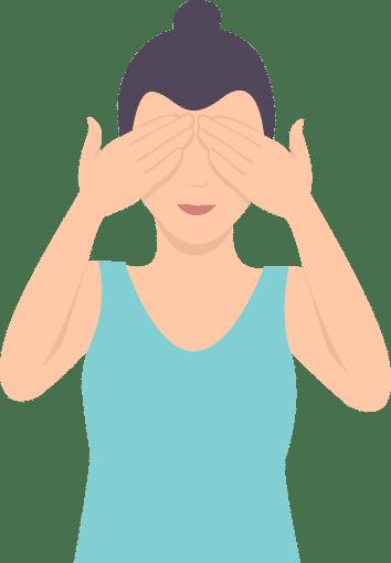 Entspannung im Arbeitsalltag bei Angina pectoris: Augenentspannung