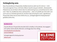 selpers in Kleine Zeitung Schlagfertig sein Februar 2019
