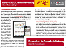 selpers im Wiener Allianz fuer Gesundheitsfoerderung Newsletter Dezember 2017