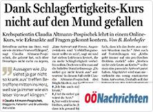 selpers in Oberösterreichischen Nachrichten 16.01.2019