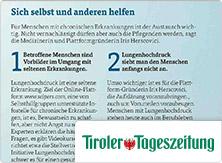 selpers in Tiroler Tageszeitung Magazin Juli 2018