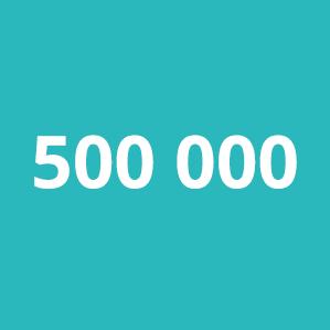 Antwort: 500 000