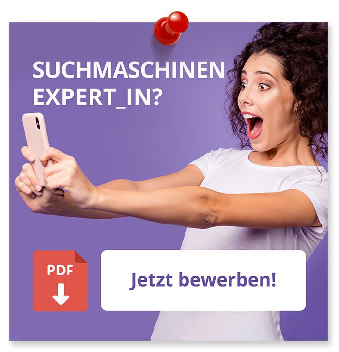 Suchmachinen Expert_in? Jetzt Bewerben!