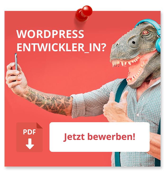 Wordpress Entwickler_in? Jetzt Bewerben!