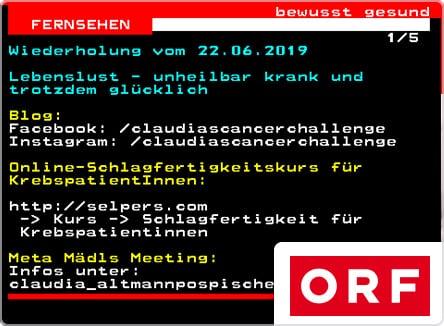 selpers im ORF Teletext Juni 2019