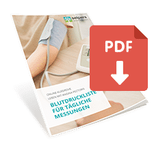 Leben mit Angina pectoris: Blutdruckliste