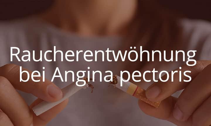 Raucherentwöhnung bei Angina pectoris