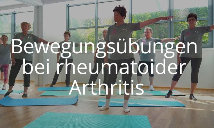 Bewegungsübungen bei rheumatoider Arthritis