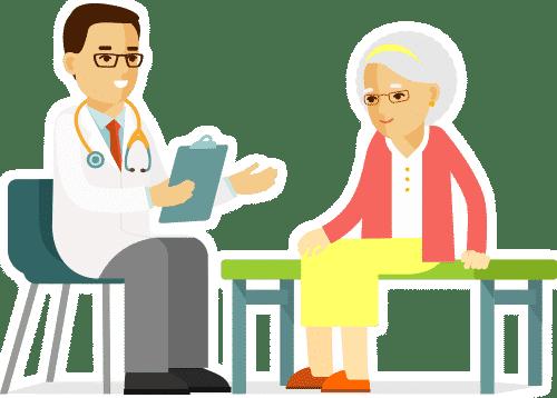 Patienten Arzt Gespräch