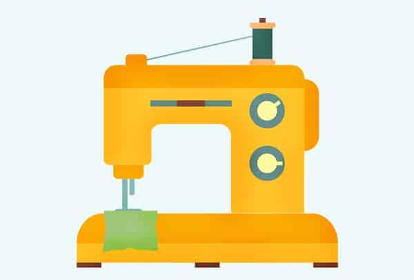 Dinkelsäckchen Anleitung: Nähmaschine