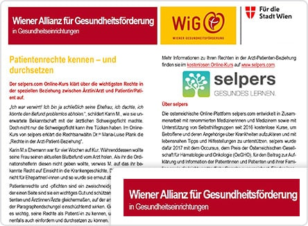 selpers in Wiener Allianz Newsletter Dezember 2019