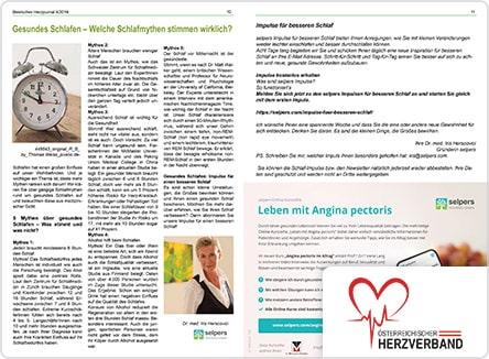 selpers im Herzjournal Jänner 2020