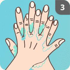 Hände desinfizieren Schritt 3