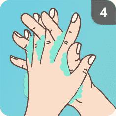 Hände desinfizieren Schritt 4