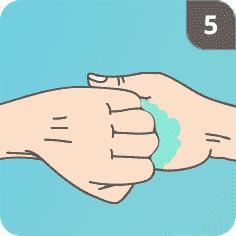 Hände desinfizieren Schritt 5
