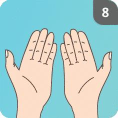 Hände desinfizieren Schritt 8