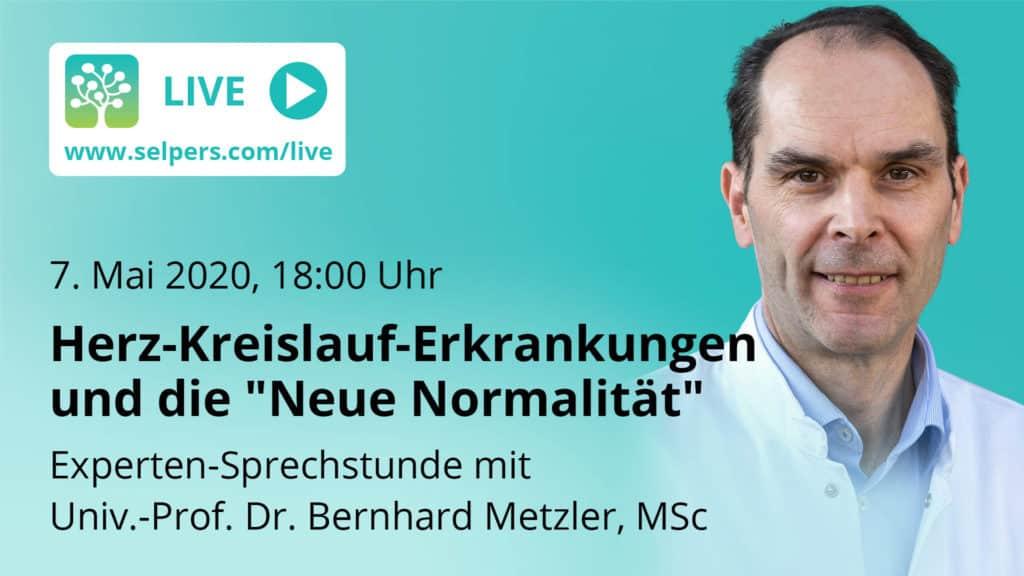"""Experten-Sprechstunde: Herz-Kreislauf-Erkrankungen und die """"Neue Normalität"""""""