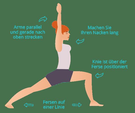 Heldenposition im Yoga
