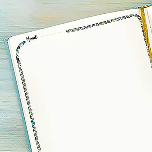 Leere Tagebuchvorlage ohne Zeilen
