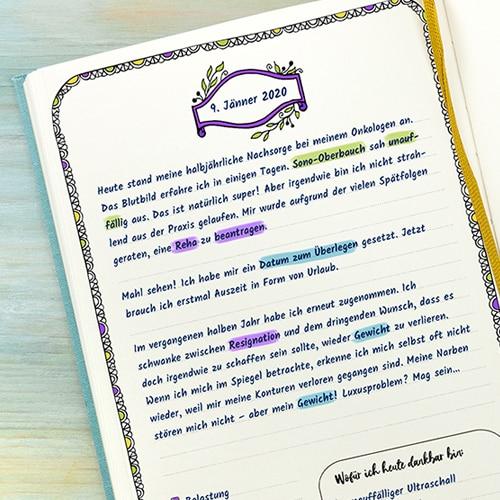 Leere Tagebuchvorlage mit Zeilen