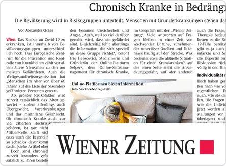 selpers in Wiener Zeitung März 2020