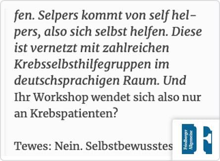 selpers in Friedberger Allgemeine