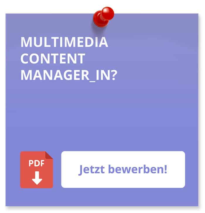 Multimedia-Content Bewerbung